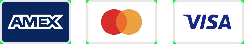 Pay Icons - Amex, Master, Visa